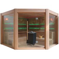 EOSPA Sauna B1501B rote Zeder 250x250 12kW EOS BiOCubo