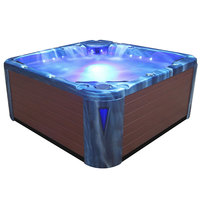 EOSPA Aussenwhirlpool IN598 premium OceanWave 235x235 braun