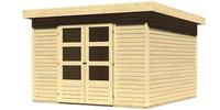 Karibu Woodfeeling Pultdach Gartenhaus Askola 6 naturbelassen
