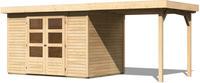 Karibu Woodfeeling Gartenhaus Askola Set 4 naturbelassen inkl. Schleppdach
