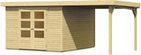 Karibu Woodfeeling Gartenhaus Askola 5 Set naturbelassen inkl. Schleppdach
