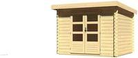 Karibu Woodfeeling Bastrup 3 Blockbohlenhaus 28 mm