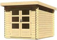 Karibu Woodfeeling Bastrup 4 Blockbohlenhaus 28mm