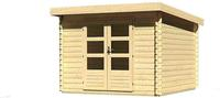 Karibu Woodfeeling Bastrup 5 Blockbohlenhaus 28 mm