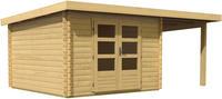 Karibu Woodfeeling Bastrup 5 Blockbohlenhaus 28 mm mit 200 cm Schleppdach