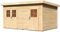Karibu WoodFeeling 2 Raum Gartenhaus Mattrup naturbelassen, Breite*Tiefe* Höhe: 4,27*2,74*2,30