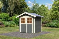 karibu gartenhaus harburg 2 terragrau 1 99m x 1 52m gartenlaube holzschuppen ebay. Black Bedroom Furniture Sets. Home Design Ideas