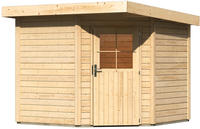 Karibu Woodfeeling Gartenhaus Neuruppin 2 naturbelassen 2,40 x 2,40m