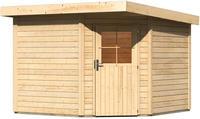 Karibu Woodfeeling Gartenhaus Neuruppin 3 naturbelassen 2,70 x 2,70m