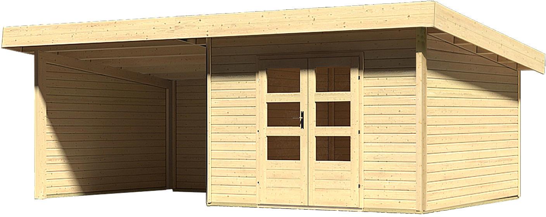 Karibu Woodfeeling Gartenhaus Northeim 3 mit Anbaudach Breite 3m