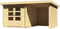 Karibu Woodfeeling Bastrup 4 Blockbohlenhaus 28 mm mit 200 cm Schleppdach
