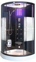 Deluxe Dampfdusche WHABP-90-DD (cr) 90x90 mit Dampf