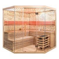 Deluxe Ofen Sauna SKY-XL-BIG-KST mit Kunststeinwand