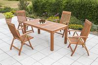 MX Gartenmöbel Set Comodoro 5 tlg. FSC ® Eukalyptus