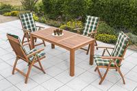 MX Gartenmöbel Set Comodoro III 9 tlg. mit Auflagen FSC ® Eukalyptus