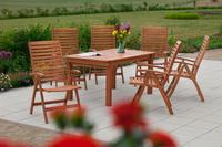 MX Gartenmöbel Set II La Plata 7 tlg. FSC® Eukalyptusholz