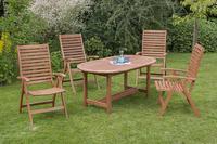 MX Gartenmöbel Set II La Plata 5 tlg. FSC® Eukalyptusholz