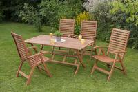 MX Gartenmöbel Set IIII La Plata 7 tlg. FSC® Eukalyptusholz