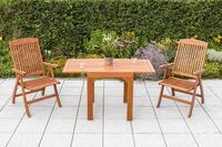 MX Gartenmöbel Set Maracaibo 3 tlg. FSC ® Eukalyptus