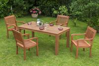 MX Gartenmöbel Set Maracaibo III 5 tlg. FSC ® Eukalyptus