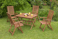 MX Gartenmöbel Set Cordoba I 5 tlg. FSC ® Eukalyptus