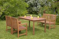 MX Gartenmöbel Set Santos 4 tlg. FSC® Eukalyptusholz