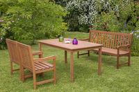MX Gartenmöbel Set I Santos 4 tlg. FSC® Eukalyptusholz