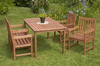 MX Gartenmöbel Set Santos 5 tlg. FSC® Eukalyptusholz