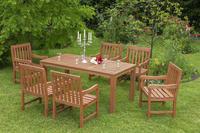 MX Gartenmöbel Set Santos 7 tlg. FSC® Eukalyptusholz