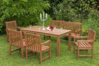MX Gartenmöbel Set III Santos 6 tlg. FSC® Eukalyptusholz