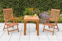 MX Gartenmöbel Set Vitoria 3tlg. Eukalyptusholz