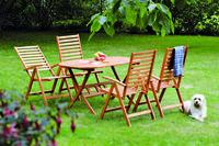 MX Gartenmöbel Set I Bahia 5 tlg. FSC® Eukalyptusholz