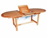 MX Gartentisch Oval FSC ® Eukalyptusholz 160 (210) x 90 cm