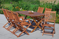 MX Gartenmöbel Rio Set 7tlg. FSC Eukalyptusholz geölt