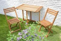 MX Gartenmöbel Porto Set 3tlg. FSC Eukalyptusholz geölt