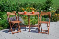 MX Gartenmöbel Porto Set I 3tlg. FSC Eukalyptusholz geölt