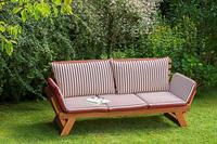 MX Gartenbank Liege 3-sitzig FSC Eukalyptusholz
