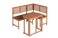 MX Gartenbank Eck links/rechts Tisch FSC® Eukalyptusholz