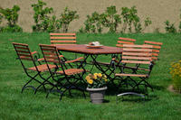 MX Gartenmöbel Set Schlossgarten 7 tlg. Eukalyptusholz