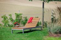 MX Alu Gartenliege Naxos, verstellbar, FSC ® Akazienholz geölt