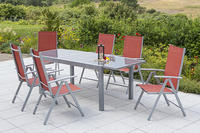 MX Alu Gartenmöbel Set Amalfi IIII 7 tlg. terracotta, Textilbespannung