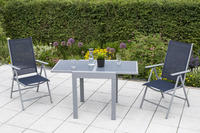 MX Alu Gartenmöbel Set Amalfi 3 tlg. marineblau, Textilbespannung