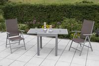 MX Alu Gartenmöbel Set Amalfi 3 tlg. taupe, Textilbespannung