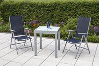 MX Alu Gartenmöbel Set Amalfi I 3 tlg. marineblau, Textilbespannung