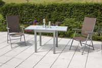 MX Alu Gartenmöbel Set Amalfi I 3 tlg. taupe, Textilbespannung