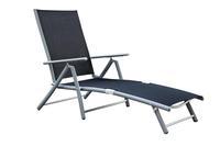 MX Gartenliege Deckchair verstellbar, schwarz Textilgewebe
