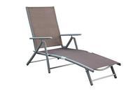 MX Gartenliege Deckchair verstellbar, taupe Textilgewebe