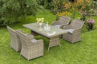 MX Gartenmöbel Set Riviera 5 tlg. inkl. Auflagen, PolyRattan