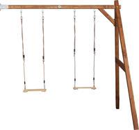 Doppelschaukel Double Swing Brown Wall mount zum Anbau