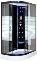 Deluxe Dampfdusche WHABP-120-DD-R 120x80 (links) mit Dampf